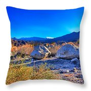 California Wilderness Panorama Throw Pillow