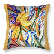 California Wildflowers Series I Throw Pillow