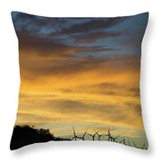 California Windmills Throw Pillow