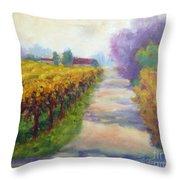 California Wine Country Throw Pillow
