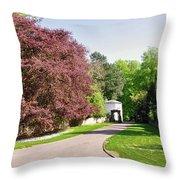 Calke Abbey Entrance - Ticknall Throw Pillow