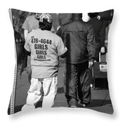 Call For Girls Throw Pillow