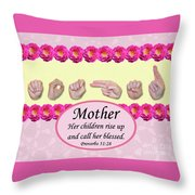 Call Her Blessed Throw Pillow