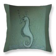 Call Me Bubbles Throw Pillow by Ginny Youngblood