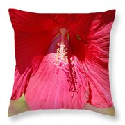 Call Me Red Throw Pillow