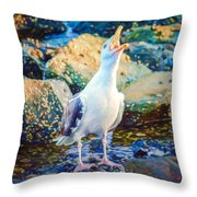 Call Of The Gull Throw Pillow