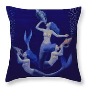 Call Of The Mermaids Throw Pillow