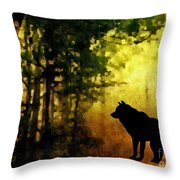 Call Of The Wolf Throw Pillow