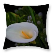 Calla In The Garden II Throw Pillow