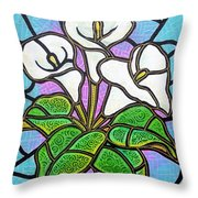 Calla Lilies 3 Throw Pillow