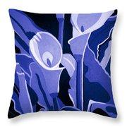 Calla Lilies Royal Throw Pillow