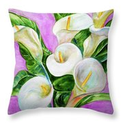 Calla Lillies 3 Throw Pillow