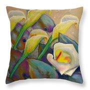 Calla Lily Design Throw Pillow