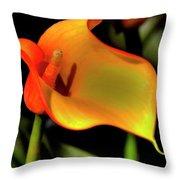 Calla Lily II Throw Pillow
