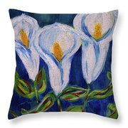 Calla Lily, Impressionism Art Throw Pillow