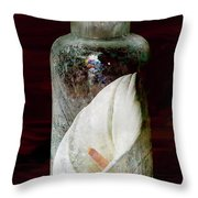Calla Lily In A Bottle Throw Pillow