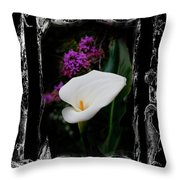 Calla Lily Splash Throw Pillow