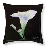 Calla Lily X Throw Pillow