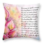 Callas   Poem Throw Pillow