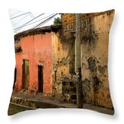 Calle En Suchitoto Throw Pillow