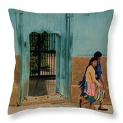 Calle Hermanos Dominquez Throw Pillow