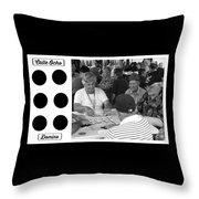Calle Ocho Domino Park Throw Pillow