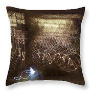 Calligraphic Light Throw Pillow