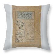 Calligraphy By Mir Ali And Muhammad Husayn Kashmiri Throw Pillow