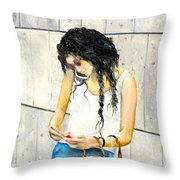 Calling And Smoking Throw Pillow
