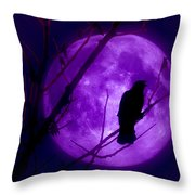Calling Out To The Night Throw Pillow