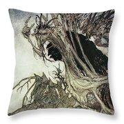 Calling Shapes And Beckoning Shadows Dire Throw Pillow