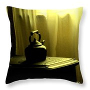 Calling The Kettle Black Throw Pillow