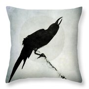 Calling To The Moon Throw Pillow by Patricia Strand