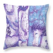 Calling Upon Spirit Animals Throw Pillow