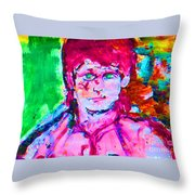 Callow Youth Throw Pillow