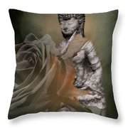 Calm Abiding And Insight Throw Pillow