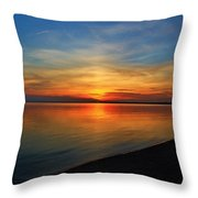 Calm After The Sun Goes Down Throw Pillow