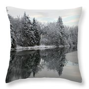 Calm And Frosty Throw Pillow