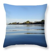 Calm And Tranquil Waters Throw Pillow