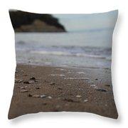 Calm Beach Sand Throw Pillow