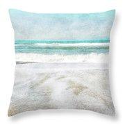 Calm Coast- Art By Linda Woods Throw Pillow