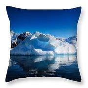 Calm Ice Throw Pillow