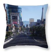 Calm On Vegas Strip Throw Pillow