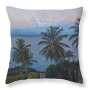 Calm In The Carribean Throw Pillow