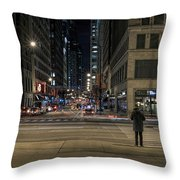 Calm In The Rush Throw Pillow