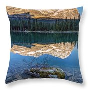 Calm O'hara Lake And Reflection At Sunrise Throw Pillow