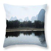 Calm On The Li River Throw Pillow by Gloria & Richard Maschmeyer - Printscapes