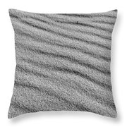 Calm Sands In Monochrome Throw Pillow
