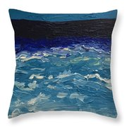 Calm Sea Throw Pillow