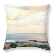 Calm Sea... View From My Balkon Throw Pillow